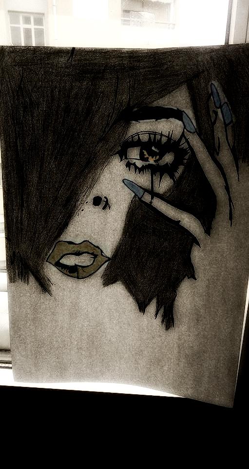 Tears On Fire. by JoyWhiteArt