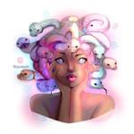 little colorful medusa