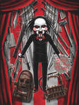 Billy the Puppet with Hacksaw art