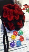 Red and Black Dragon Scale Bag