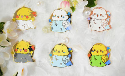 Pudgy Budgie Enamel Pins