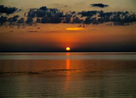 Sunset on the Sea of Kiev in Ukraine by mariakovalchuk