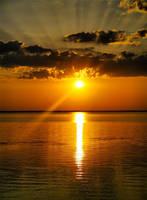 Sunset on the Sea of Kiev in Ukraine 2 by mariakovalchuk