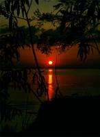 Sunset on the Sea of Kiev in Ukraine 3 by mariakovalchuk