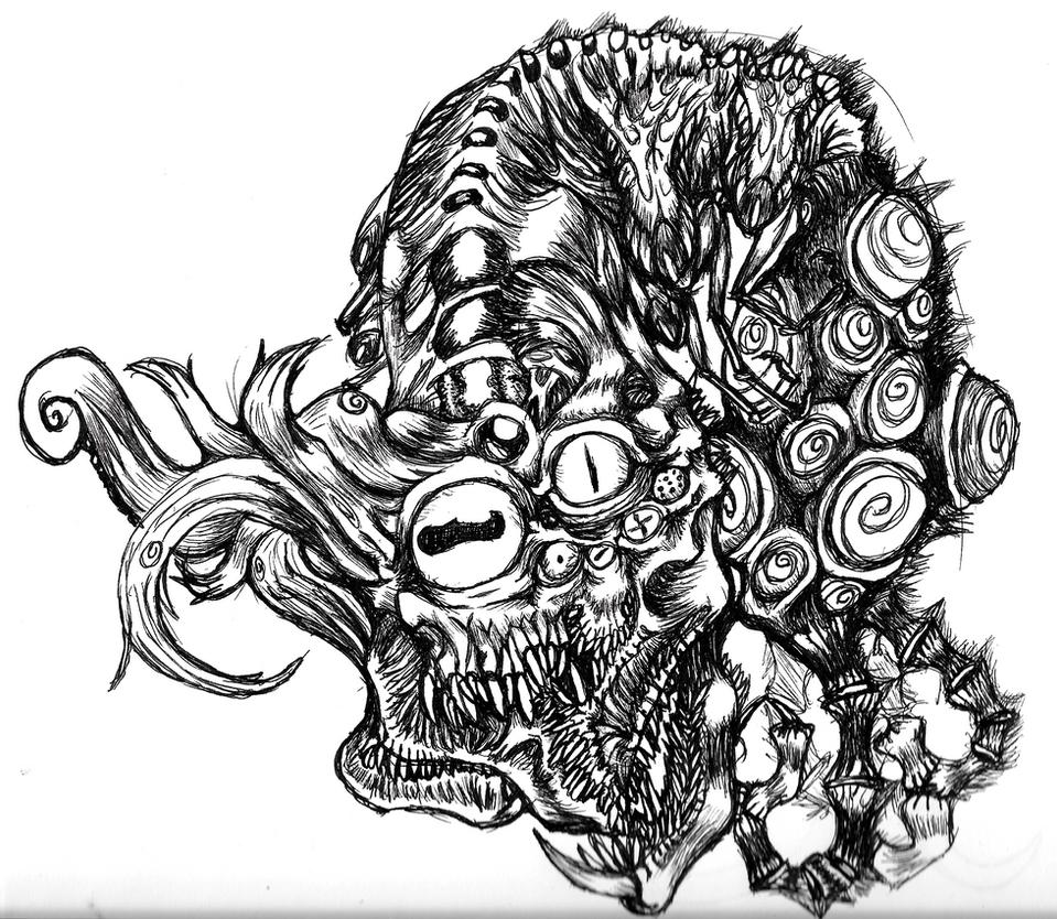 Eldritch creature by FlameFoxe