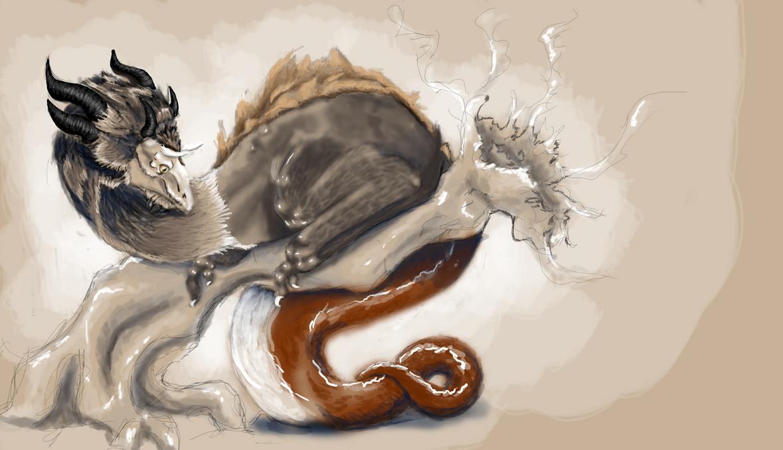 Dragon study by FlameFoxe