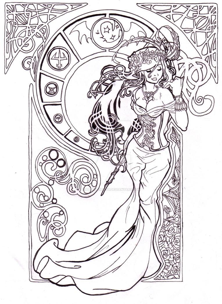 Nouveau Wizard Lines By Butifuldeath On Deviantart