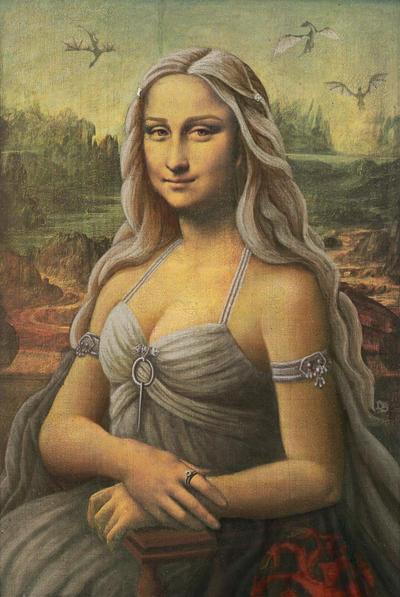 Daenerys Targaryen (Mona Lisa) by SolarShine