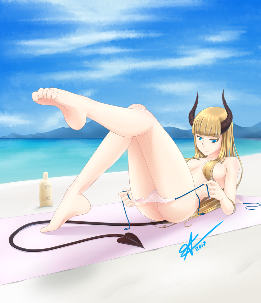 Teasing at the beach by Arazand