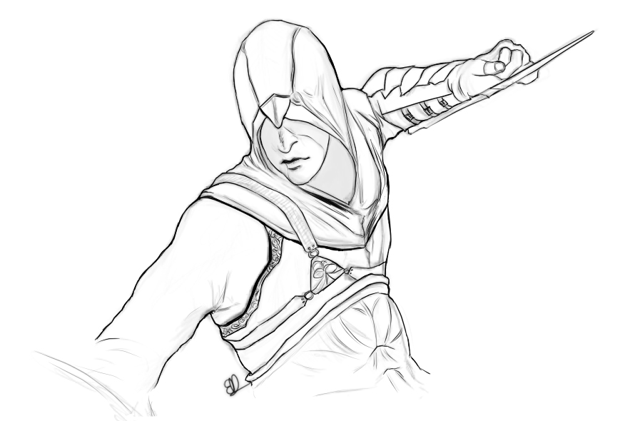 comment dessiner assassin's creed