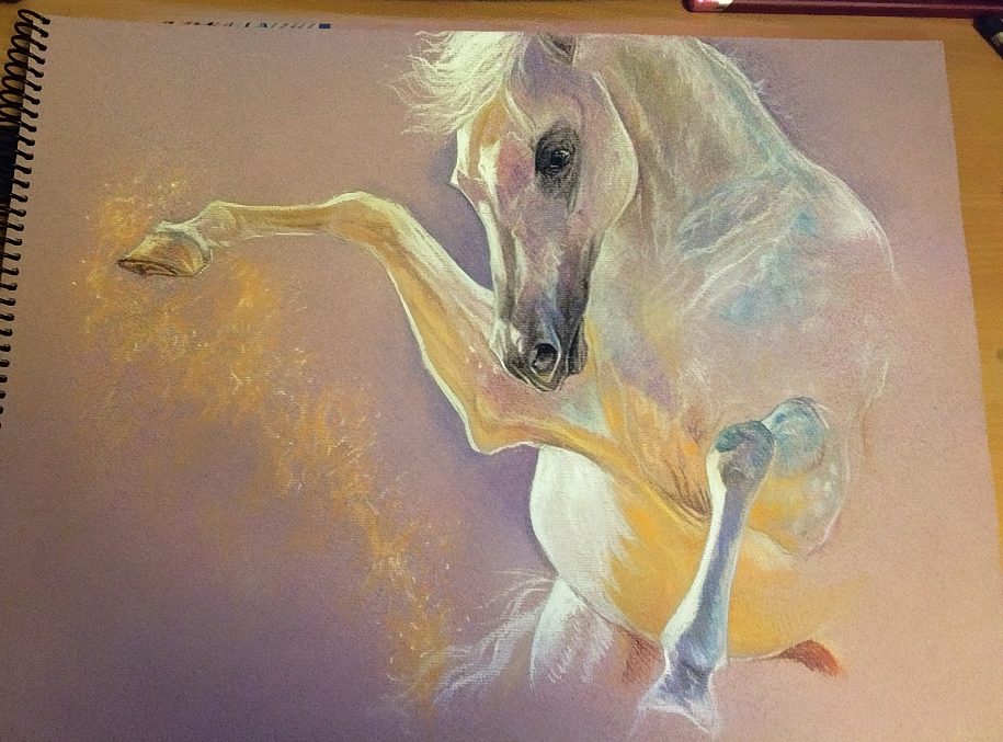 Arabian horse PASTEL by Elsouille