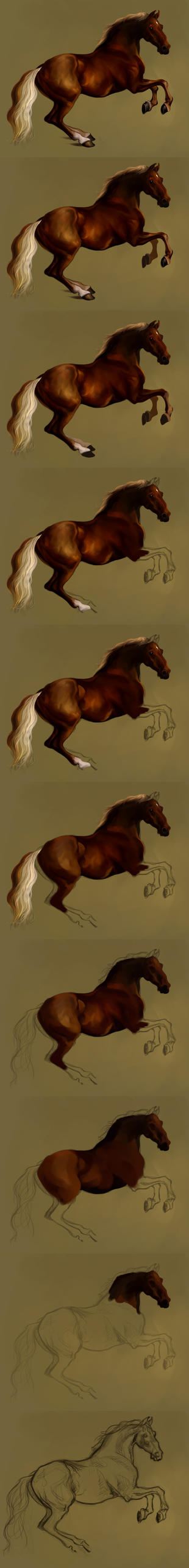Making of Whistlejacket by Elsouille