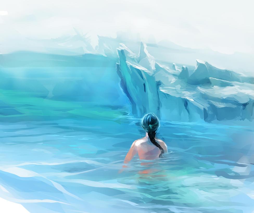 Arctic Mermaid (PaintStorm test) by Elsouille