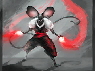 Character design challenge mouse warrior by Elsouille