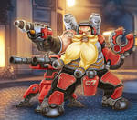 Torbjorn works hard