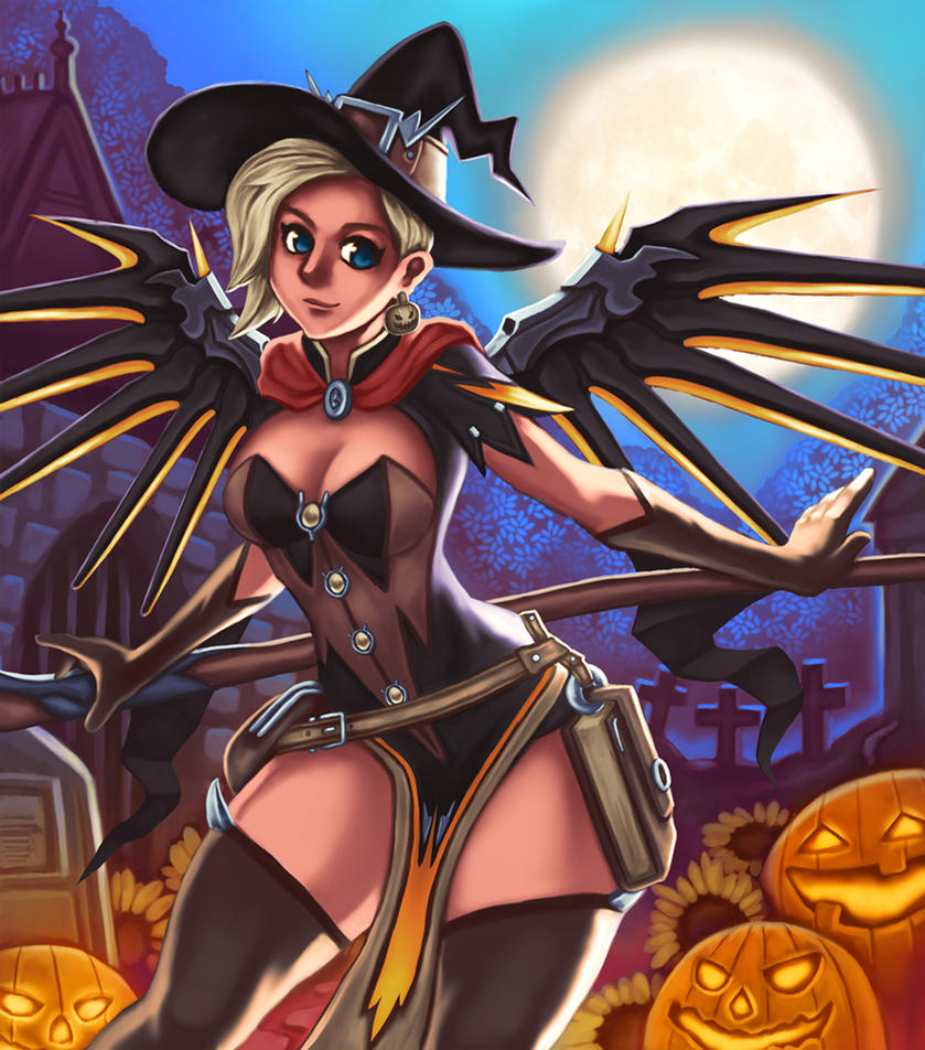 Mercy walks in the grave. NSFW optional by bobcow09