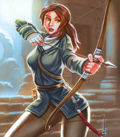 Lara Croft take's aim by bobcow09