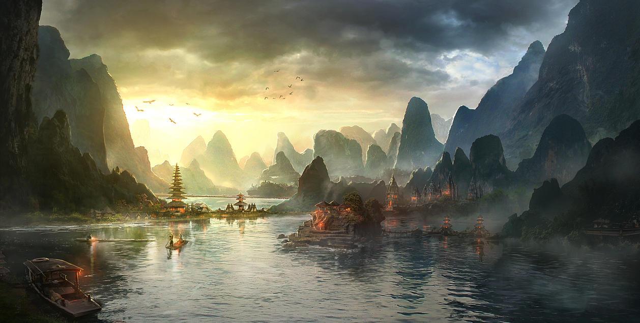 Temple Lagoon by JonasDeRo