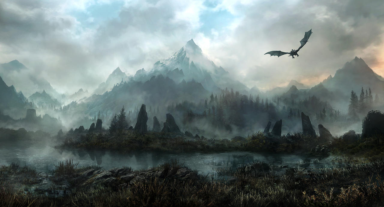 skyrim paint art wallpapers - photo #28