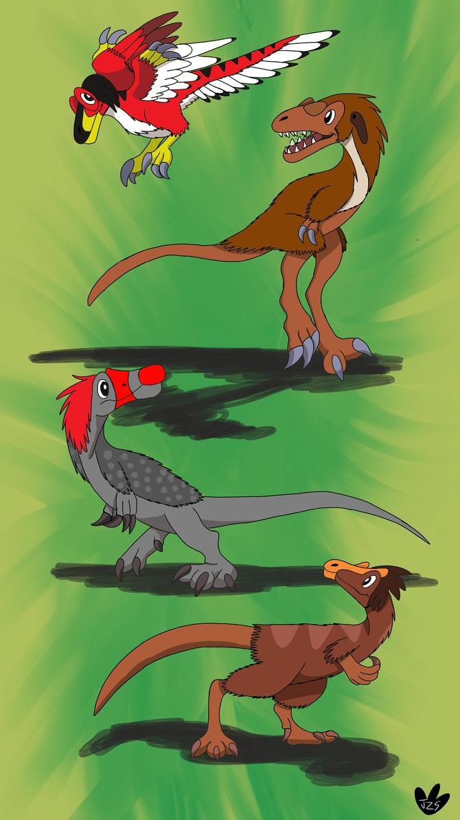 Dino Kids (redrawn) by DinoBirdMan