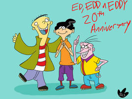 Ed, Edd n Eddys 20th Years by DinoBirdMan