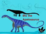 Blu the Apatosaurus louisae by DinoBirdMan