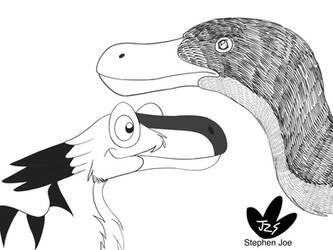 Velociraptor cartoon vs reality  by DinoBirdMan