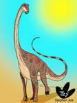 Non cropped sauropod by DinoBirdMan