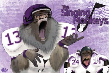 The Singing Monkeys Football Team.