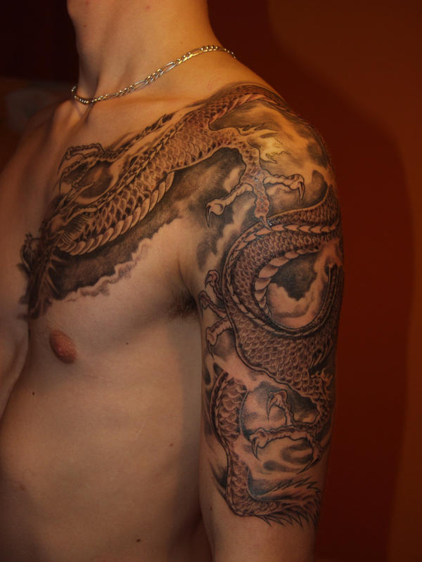 Dragon Tattoo Over Shoulder: Shoulder Japanese Dragon Tattoos