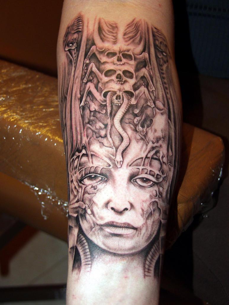 Hr giger tattoo designs - H R Giger By Fpista