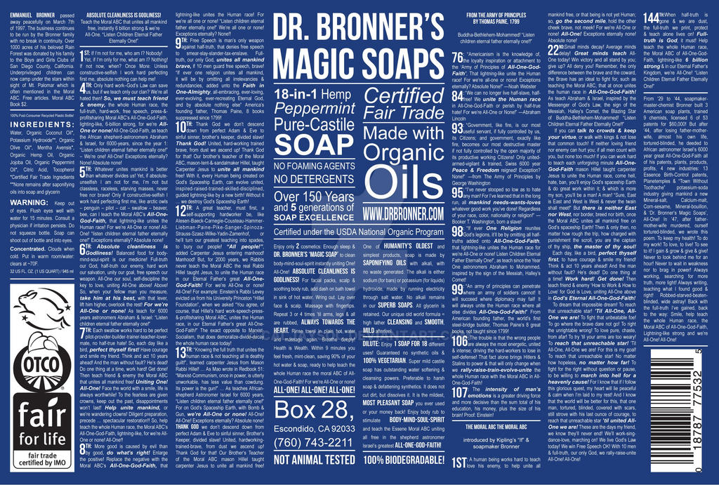 Dr Bronner S Pure Castile Soap Use For Kitchen Sanitation Dilute