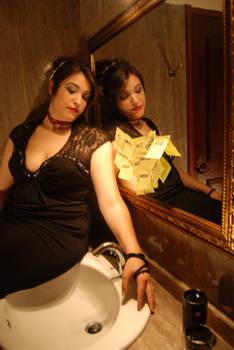Mirror lady Stock