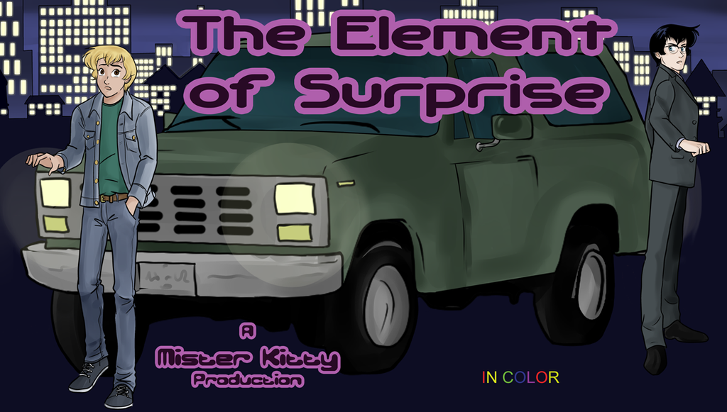 Element of Surprise- in color by misterkittyart