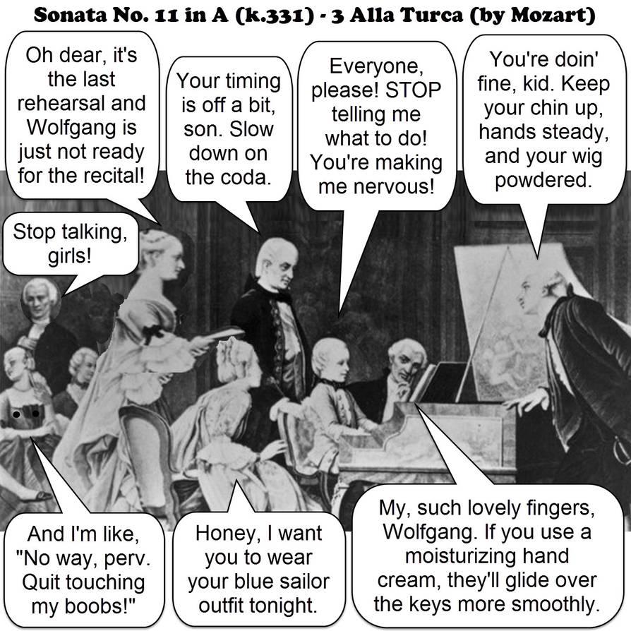 Alla Turca Mozart sonata no.11 in a (k.331) - 3. alla turca - mozart