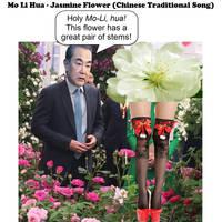 Mo Li Hua - jasmine flower - chinese traditional s by dgoldish
