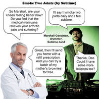 smoke two joints - Sublime - JOKE VARIATION-2 by dgoldish