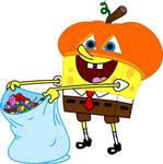 Pumpkin Head Sponge Bob