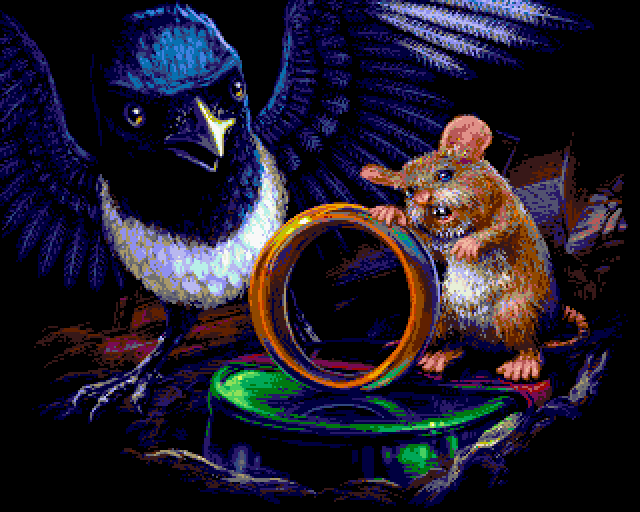 Mouse N Bird by oliverlindau