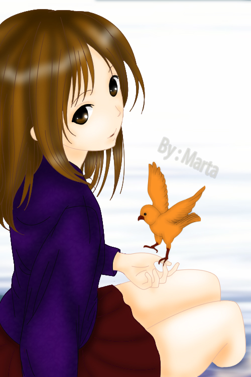 Bird and Girl by Meilinli