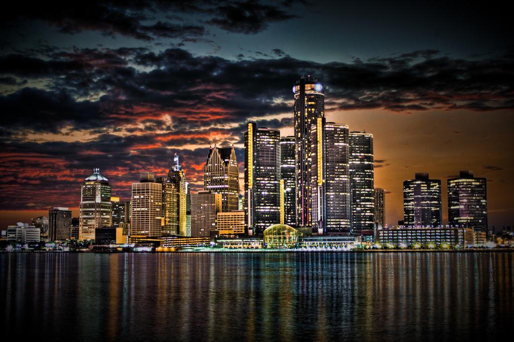 Detroit Skyline - HDR