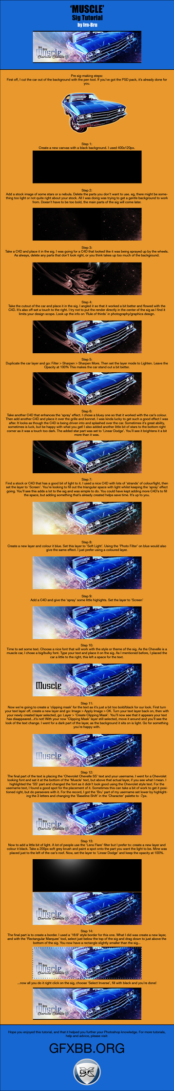 Muscle Car sig tut by GFXBB