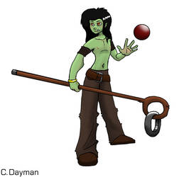 Taloc the half Orc er Elf by ChaosStone