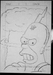 Radioactive Man sketch card