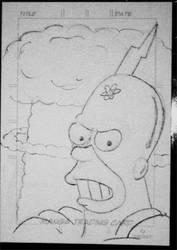 Radioactive Man sketch card