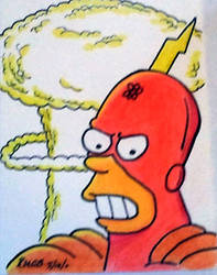 Radioactive Man sketch card 2