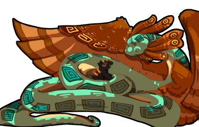 Quetzalcoatl and Tulan by StoryShepherd