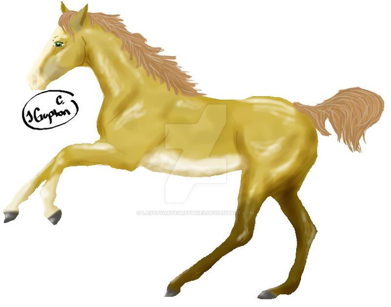 Dun Foal by LadyPyrateGreyskies