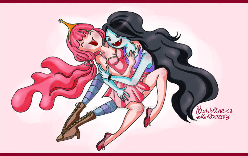 Marceline x Princess Bubblegum (Bubbline) by m-roa