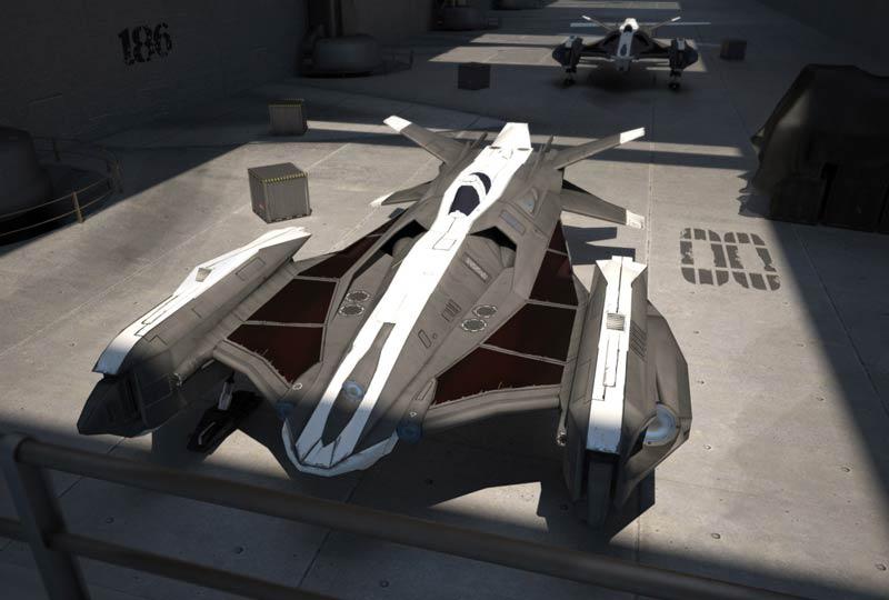 Phantom spaceship by dactilardesign